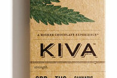 Kiva Confections Ginger Dark Chocolate Bar