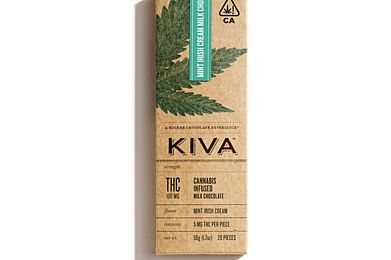 Kiva Confections Mint Irish Cream Milk Chocolate Bar