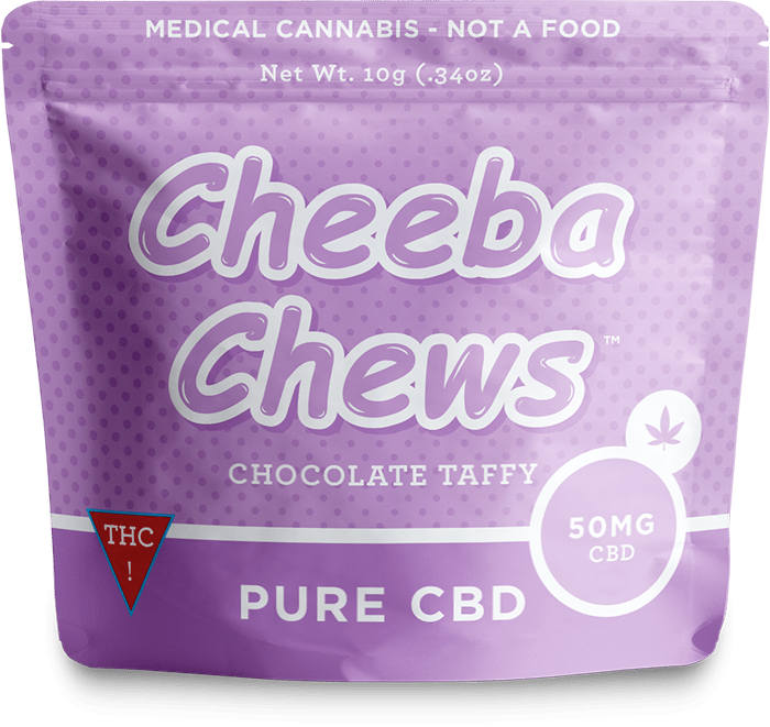 Cheeba Chews Pure CBD Medicated Chocolate Taffy 50MG
