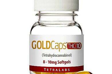 GoldCaps™ THC Oral Softgel Capsules, 10mg