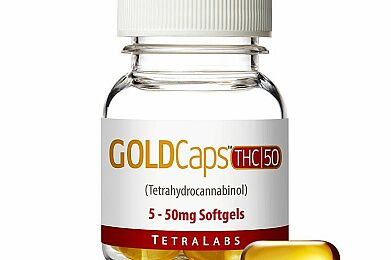 GoldCaps™ THC Oral Softgel Capsules, 50mg