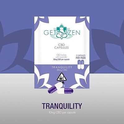 Tranquility 10mg CBD Capsules - 2 Pack Edibles, Order Weed Online