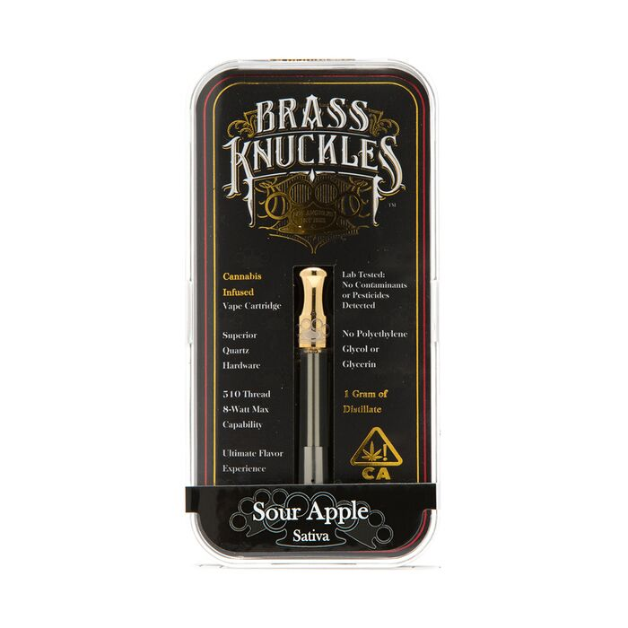 Brass Knuckles Sour Apple Cartridge Greenrush Buy Weed