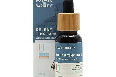 Papa & Barkley Releaf Tincture CBD 1:1 THCA 30ML