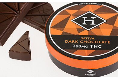 100mg Sativa Dark Chocolate Bar by Hashman Infused