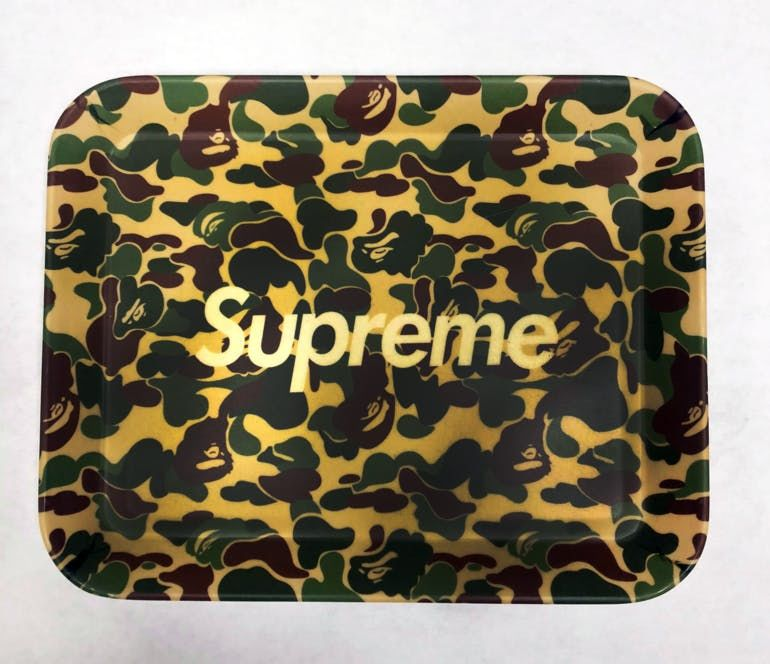 Supreme X Bape Rolling Tray - 8 5inches Accessories, Order Weed