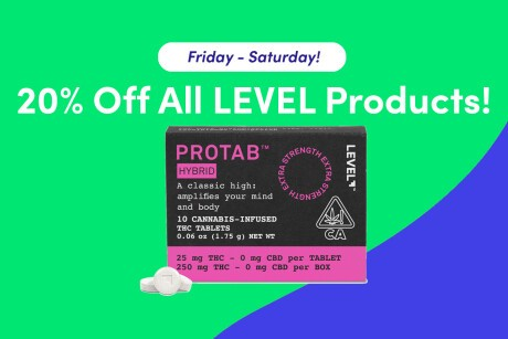 20% Off All LEVEL Products! Banner