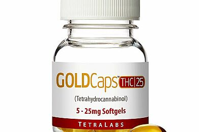 GoldCaps™ THC Oral Softgel Capsules, 25mg