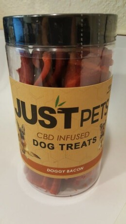 JUST PETS CBD DOG TREATS ( BACON STRIPS) SOLD OUT, CHECK