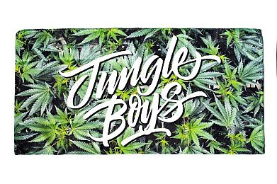 Jungle Boys Microfiber Towel: Veg Leaves