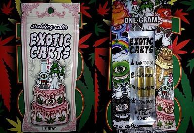 Exotic Carts Wedding Cake Cartridge Concentrates Order Weed