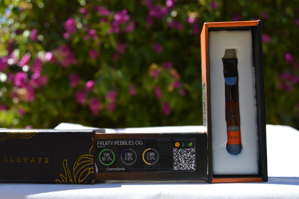 81% THC- Fruity Pebbles  5 G Vape Cartridge Sativa Private Reserve