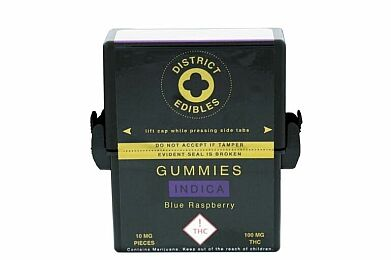 Gummies - Blue Raspberry (Indica) 100mg