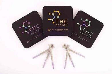 THC Design Pre Roll Tin - INDICA - 6 pack