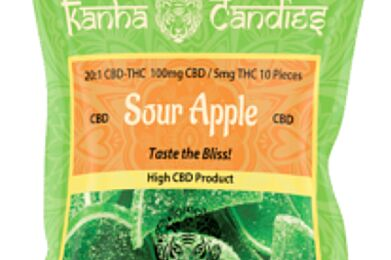 Kanha Gummies Sour Apple CBD 100mg