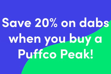 Save 20% On Concentrates with purchase of Puffco Peak Banner