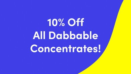 Wednesday - 10% Off Dabbable Concentrates Banner