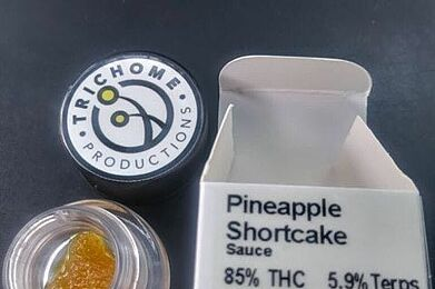 PINEAPPLE SHORTCAKE LIVE RESIN TERP SAUCE BY TRICHOME PRODUCTIONS