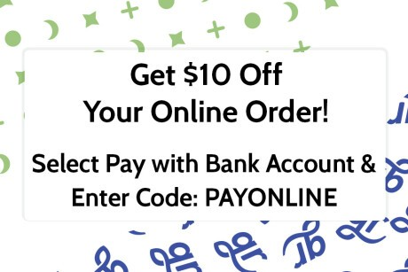 Pay With Bank Account and Get $10 Off Banner