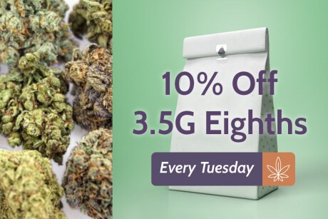 Green Day Tuesday! 10% Off 3.5G Eighths! Banner